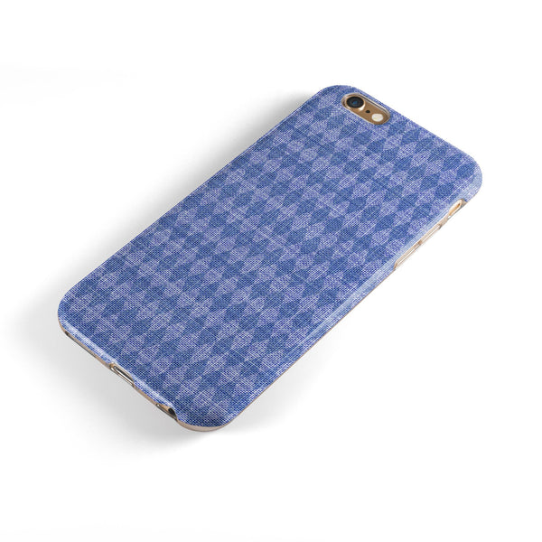 Deep Blue Sea Diamond Pattern iPhone 6/6s or 6/6s Plus 2-Piece Hybrid INK-Fuzed Case