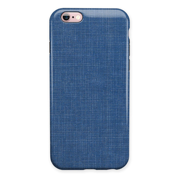 Deep Blue Sea Fabric iPhone 6/6s or 6/6s Plus 2-Piece Hybrid INK-Fuzed Case
