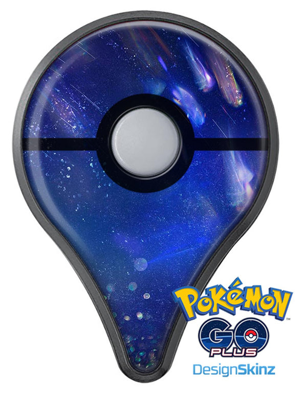 Deep Blue Unfocused Scratches Pokémon GO Plus Vinyl Protective Decal Skin Kit
