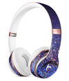 Deep Blue with Gold Shimmering Orbs of Light Full-Body Skin Kit for the Beats by Dre Solo 3 Wireless Headphones