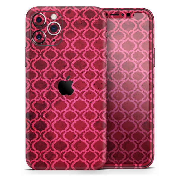 Deep Fuschia Oval Pattern - Skin-Kit for the Apple iPhone 11, 11 Pro or 11 Pro Max