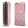 Deep Pink Pattern Of Luxury iPhone 6/6s or 6/6s Plus 2-Piece Hybrid INK-Fuzed Case