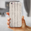 Disappearing Black and White Verticle Stripes iPhone 6/6s or 6/6s Plus 2-Piece Hybrid INK-Fuzed Case