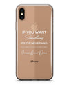Do Something Different - Crystal Clear Hard Case for the iPhone XS MAX, XS & More (ALL AVAILABLE)