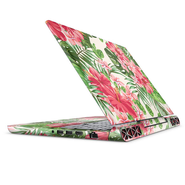 Dreamy Subtle Floral V1 - Full Body Skin Decal Wrap Kit for the Dell Inspiron 15 7000 Gaming Laptop (2017 Model)