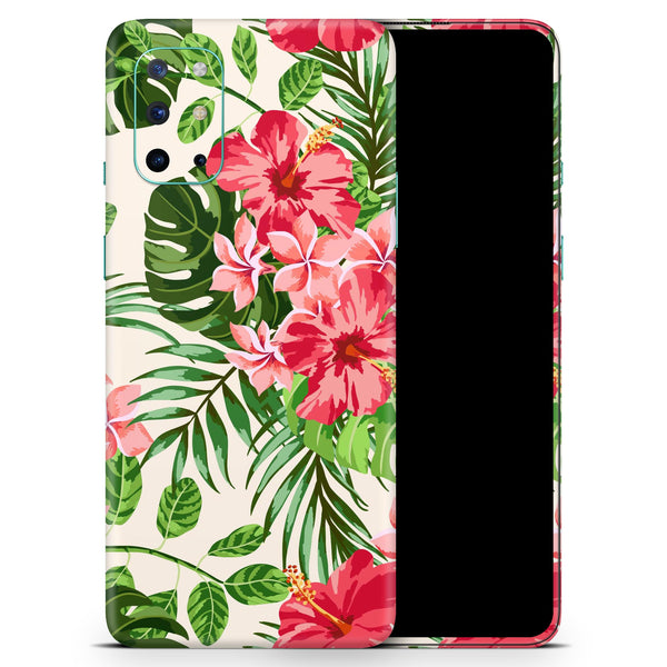 Dreamy Subtle Floral V1 - Full Body Skin Decal Wrap Kit for OnePlus Phones