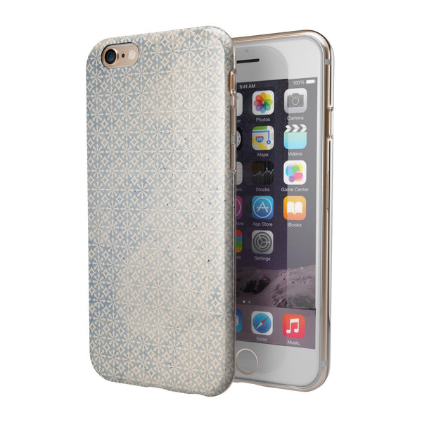 Faded Blue and White Snowflake Pattern iPhone 6/6s or 6/6s Plus 2-Piece Hybrid INK-Fuzed Case