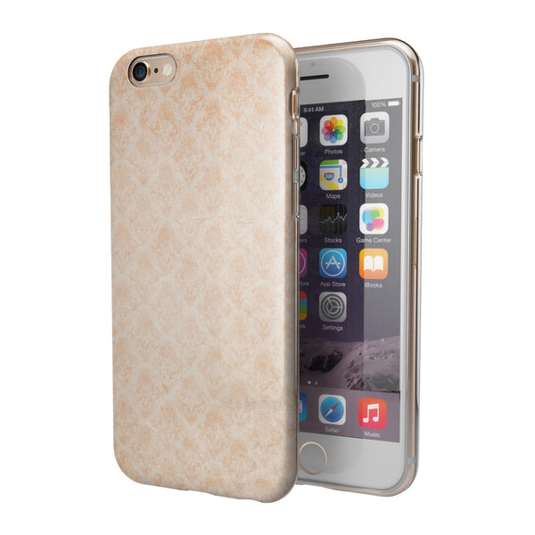 Faded Coral Grunge Royal Pattern iPhone 6/6s or 6/6s Plus 2-Piece Hybrid INK-Fuzed Case