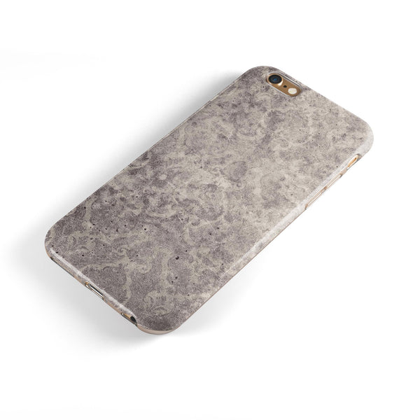 Faded Gray Cauliflower Damask Pattern iPhone 6/6s or 6/6s Plus 2-Piece Hybrid INK-Fuzed Case