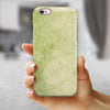 Faded Green Grunge Inflated Damask Pattern iPhone 6/6s or 6/6s Plus 2-Piece Hybrid INK-Fuzed Case