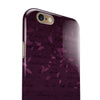 Faded Pink Petals Over Burgundy Script  iPhone 6/6s or 6/6s Plus 2-Piece Hybrid INK-Fuzed Case