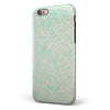 Faded Teal Snowflake Pattern iPhone 6/6s or 6/6s Plus 2-Piece Hybrid INK-Fuzed Case
