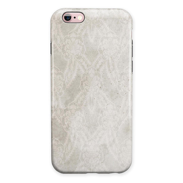 Faded White and Gray Royal Pattern iPhone 6/6s or 6/6s Plus 2-Piece Hybrid INK-Fuzed Case