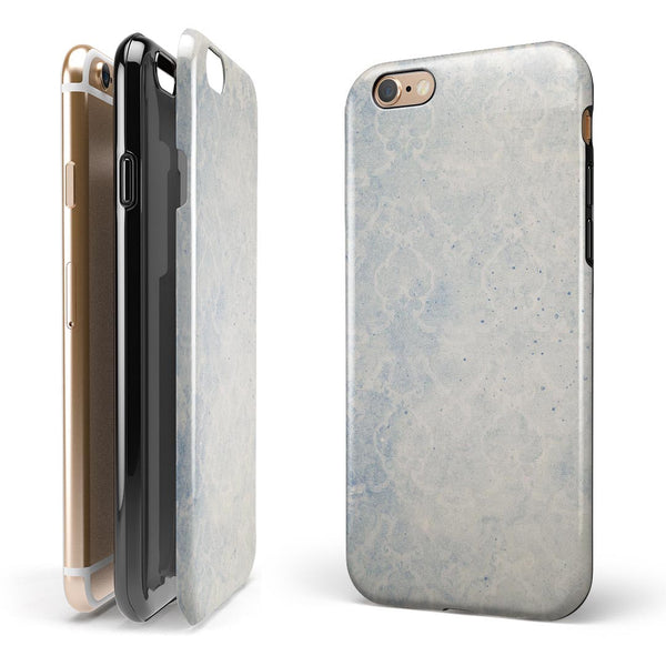 Faded Winds of Winter Damask Pattern iPhone 6/6s or 6/6s Plus 2-Piece Hybrid INK-Fuzed Case