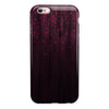 Falling Micro Hearts Over Burgundy Planks of Wood iPhone 6/6s or 6/6s Plus 2-Piece Hybrid INK-Fuzed Case