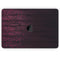 "Falling Micro Hearts Over Burgundy Planks of Wood - Skin Decal Wrap Kit Compatible with the Apple MacBook Pro, Pro with Touch Bar or Air (11"", 12"", 13"", 15"" & 16"" - All Versions Available)"