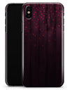 Falling Micro Hearts Over Burgundy Planks of Wood - iPhone X Clipit Case