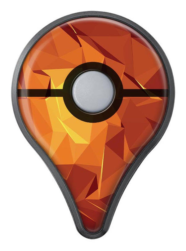 Fiery Abstract Geometric Shapes Pokémon GO Plus Vinyl Protective Decal Skin Kit
