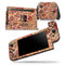Floral Pattern on Orange Watercolor - Skin Wrap Decal for Nintendo Switch Lite Console & Dock - 3DS XL - 2DS - Pro - DSi - Wii - Joy-Con Gaming Controller