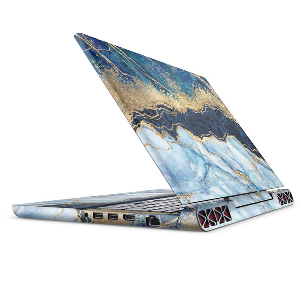Foiled Marble Agate - Full Body Skin Decal Wrap Kit for the Dell Inspiron 15 7000 Gaming Laptop (2017 Model)