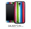 Vertical Colorful Stipe Skin for the Galaxy S4