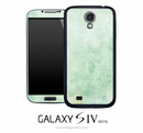 Faded Green Floral Skin for the Galaxy S4