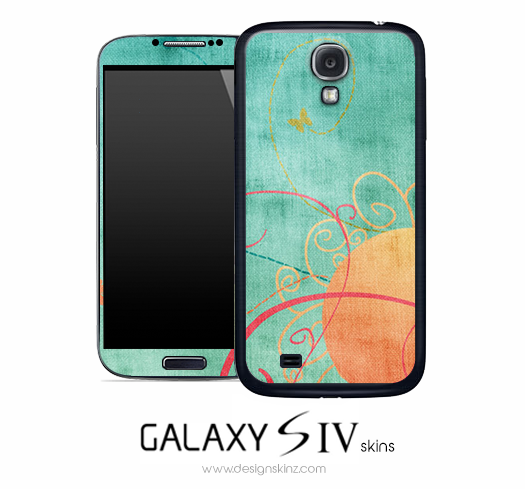 Abstract Sunny Butterfly Skin for the Galaxy S4