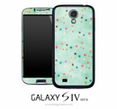 Turquoise Colorful Shapes Skin for the Galaxy S4