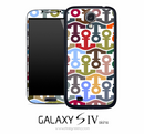 Tiled Colorful Anchors Skin for the Galaxy S4