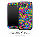 Large Neon Sprinkles Skin for the Galaxy S4