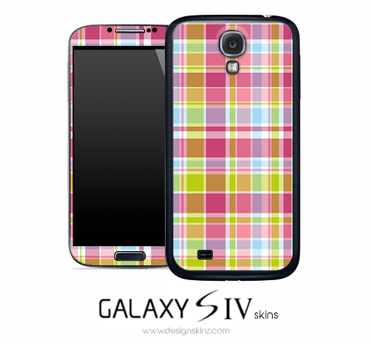 Bright Plaid Skin for the Galaxy S4