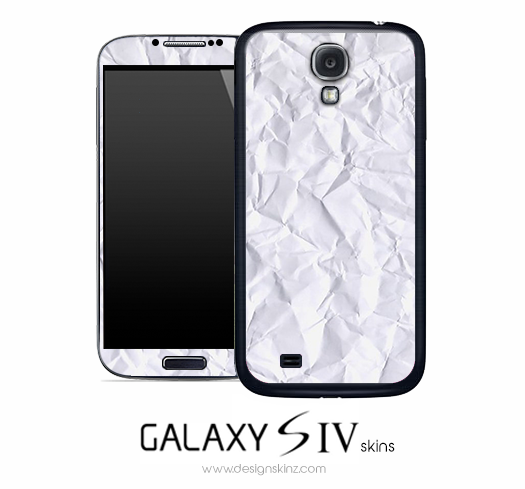 Crumpled Paper Skin for the Galaxy S4