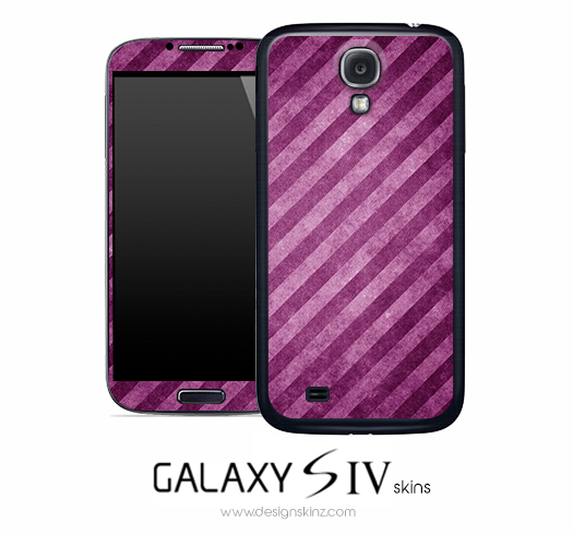 Slanted Purple Stripe Skin for the Galaxy S4