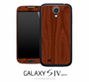 Mahogany Wood Skin for the Galaxy S4
