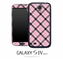 Pink Plaid Skin for the Galaxy S4