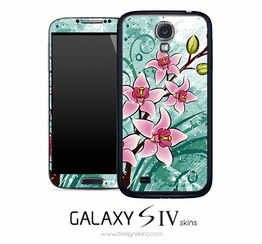 Artistic Floral Skin for the Galaxy S4