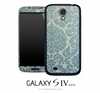 Classic Turquoise Floral Skin for the Galaxy S4