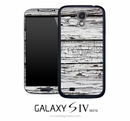 White Wood Chip Skin for the Galaxy S4