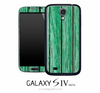 Green Stained Wood Skin for the Galaxy S4