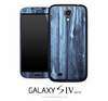 Blue Stain Wood Skin for the Galaxy S4