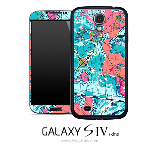 Abstract Map Skin for the Galaxy S4