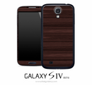 Horizontal Stained Wood Skin for the Galaxy S4