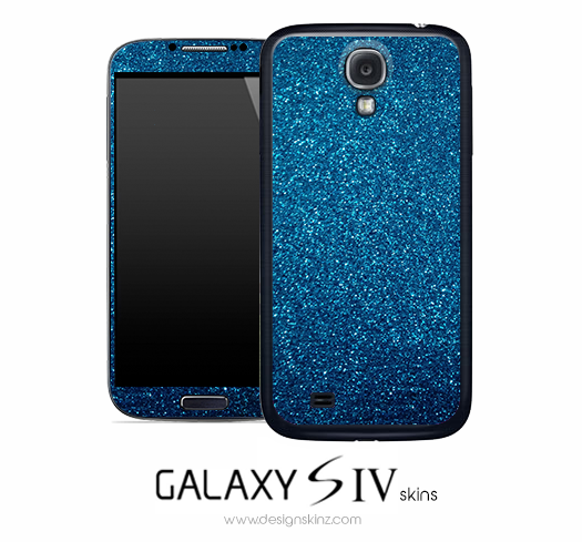 Blue Glitter Skin for the Galaxy S4