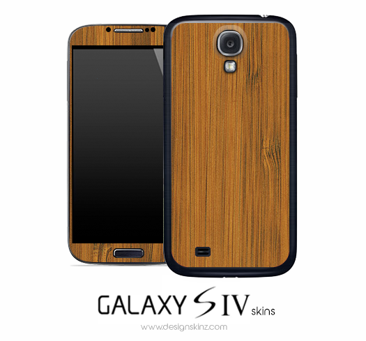 Real Bamboo Wood Skin for the Galaxy S4