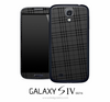 Dark Plaid Skin for the Galaxy S4