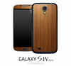 Straight Wood Skin for the Galaxy S4