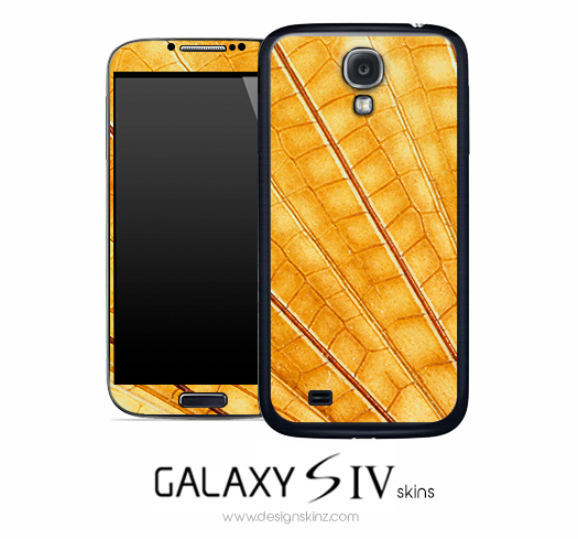 Yellow Scale Skin for the Galaxy S4