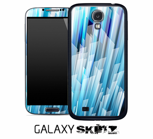 Abstract Blue 3d Pattern Skin for the Galaxy S2, S3 or S4