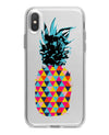 Geo Retro Summer Pineapple v1 - Crystal Clear Hard Case for the iPhone XS MAX, XS & More (ALL AVAILABLE)
