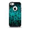 Glowing Digital Green Dots Skin for the iPhone 5c OtterBox Commuter Case